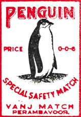 Penguin Special Safety Match (Matchbox Labels Graphic Design Art Prints)