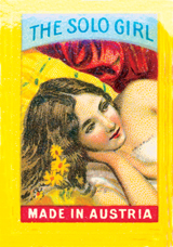 The Solo Girl (Matchbox Labels Graphic Design Greeting Cards)
