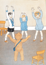 A Teddy Bear Leading Gym Class (Teddy Bears Greeting Cards)