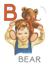 B for Bear (Teddy Bears Art Prints)