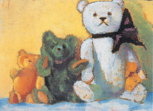 Three Teddy Bears (Teddy Bears Art Prints)