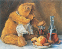 Teddy Bear Still Life (Teddy Bears Art Prints)