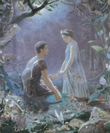 A Midsummer Night's Dream - Hermia and Lysander (Shakespeare Performing Arts Art Prints)