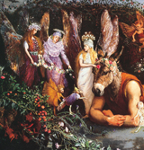 A Midsummer Night's Dream - Titania and Bottom (Shakespeare Performing Arts Greeting Cards)