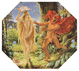 A Midsummer Night's Dream - Puck and a Fairy (Shakespeare Performing Arts Art Prints)