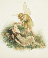 A Midsummer Night's Dream - Titania Asleep (Shakespeare Performing Arts Greeting Cards)