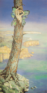 The Tempest - Ariel Emerges From a Tree