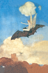 The Tempest - Ariel Flies Upon a Bat (Shakespeare Performing Arts Art Prints)