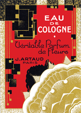 Eau de Cologne Perfume (Vintage Cosmetics Graphic Design Greeting Cards)
