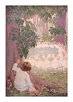 Observing the Dancing Fairies (Children & Fairies Greeting Cards)