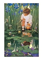 Fairies at the Lily Pond (Jessie Willcox Smith Art Prints)