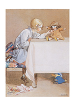 Talking to Dolly (Dolls Art Prints)