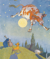 And the Cow Jumped Over the Moon (Nursery Rhymes Art Prints)