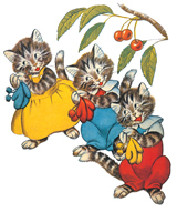 Three Little Kittens (Nursery Rhymes Art Prints)