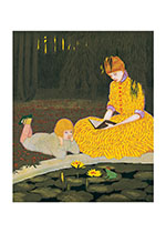 Reading By Pond (Books and Readers Greeting Cards)