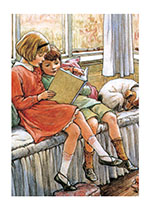 Children Reading (Books and Readers Greeting Cards)