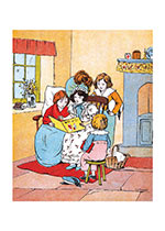 Family Reading (Books and Readers Art Prints)
