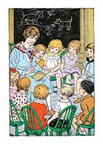 Teacher Reading to Students (Books and Readers Art Prints)