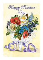 Happy Mother's Day - A Lacy Bouquet (Mother's Day Greeting Cards)