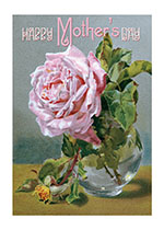 Happy Mother's Day - A Perfect Pink Rose (Mother's Day Greeting Cards)