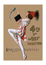 Patriotic Dancer (Classic 4th of July Greeting Cards)