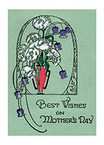 Best Wishes On Mother's Day - An Elegant Vase of Purple and White Flowers (Mother's Day Greeting Cards)