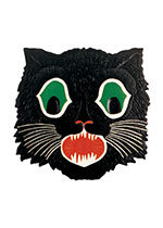 Black Cat Mask (Classic Halloween Art Prints)