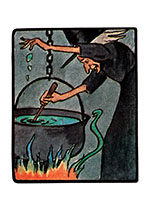 Witch Brew on the Boil (Classic Halloween Art Prints)
