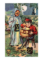 Getting Ready for Trick-or-Treat (Classic Halloween Art Prints)