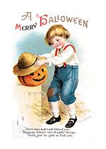 Jack-o-Lantern and Boy