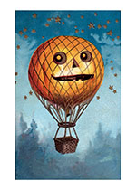 Hot Air Pumpkin (Classic Halloween Art Prints)