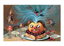 Magical Jack-o-Lantern Cake (Classic Halloween Art Prints)