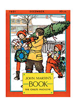 Carrying The Christmas Tree (Magazine Covers Christmas Greeting Cards)