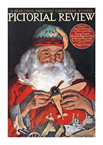 Santa With a Toy Airplane (Magazine Covers Christmas Greeting Cards)