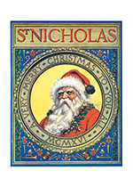 Old St. Nick (Magazine Covers Christmas Art Prints)