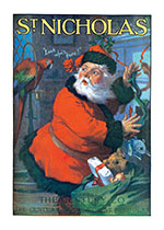 Santa Claus and Parrot (Magazine Covers Christmas Greeting Cards)