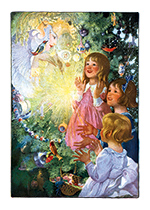 Christmas Fairy (Children Enjoying Christmas Greeting Cards)