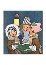 Christmas Carolers (Children Enjoying Christmas Greeting Cards)