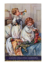 Children Playing With Toys (Children Enjoying Christmas Greeting Cards)