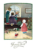 Children Celebrating Christmas (Children Enjoying Christmas Greeting Cards)