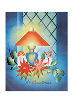 Deco Style Lamp and Christmas Presents (Many More Christmas Art Prints)