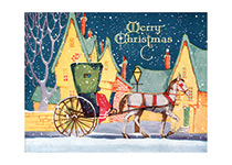 Christmas Carriage (Many More Christmas Greeting Cards)