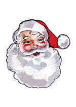 Jolly Santa! (Santa Claus Christmas Art Prints)