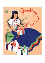 Hostess Opening Gifts (Many More Christmas Greeting Cards)