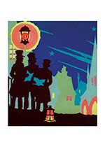 Colorful Colorful Deco Christmas Carolers (Many More Christmas Art Prints)