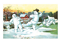 Frolicking Snowmen (Snowmen Christmas Greeting Cards)