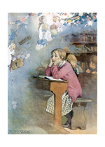 Dreaming Of Christmas (Children Enjoying Christmas Art Prints)