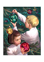 Decorating the Tree (Children Enjoying Christmas Art Prints)