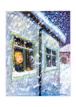 Winter Daydreams (Children Enjoying Christmas Greeting Cards)