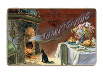 Thanksgiving Greeting with Cat (Thanksgiving Greeting Cards)